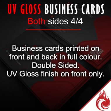 UV Gloss Business Cards - Full Colour 4/4